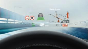 BMW Série 5 affichage tête haute